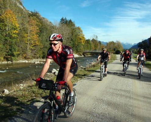Von Allgäu Aktiv geführte Mountainbike-Tour