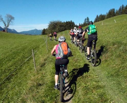 Regelmäßig stattfindende Mountainbike-Tour von Allgäu Aktiv