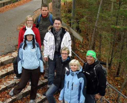 Nordic-Walking in der Gruppe mit Allgäu Aktiv