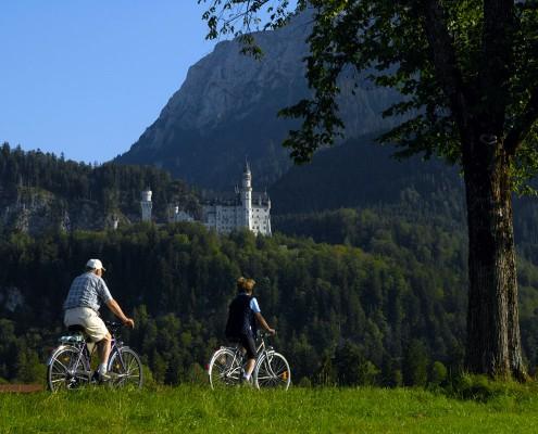 Geführte Radtour vor Schloss Neuschwanstein