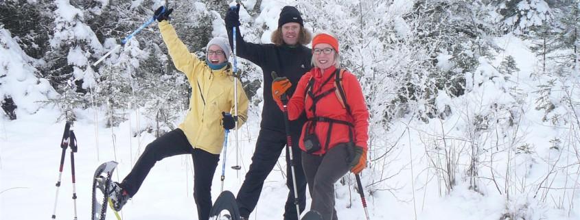 Scheeschuhtour am Schloßweiher