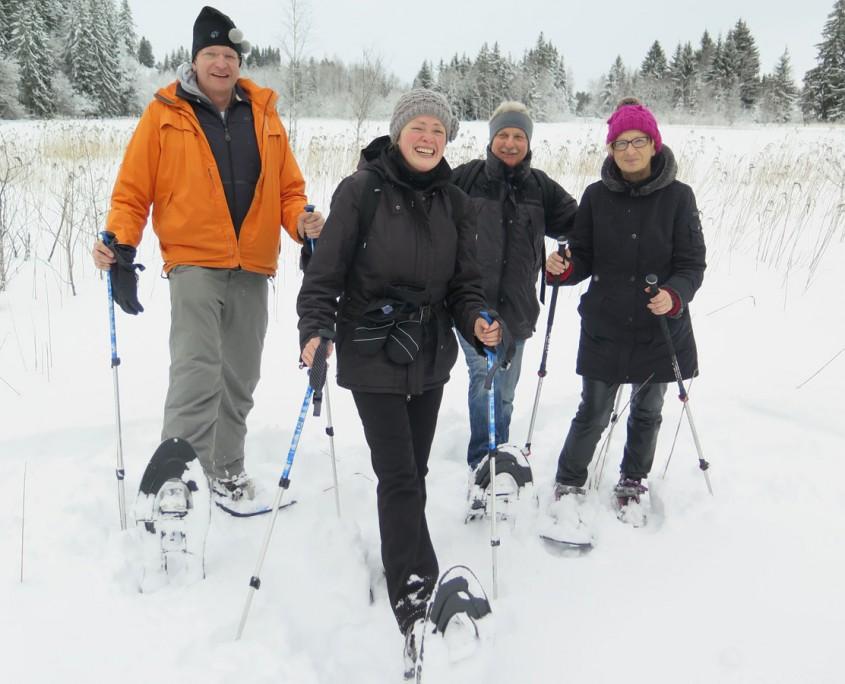 gefuehrte Schneeschuhtour am 25 Januar