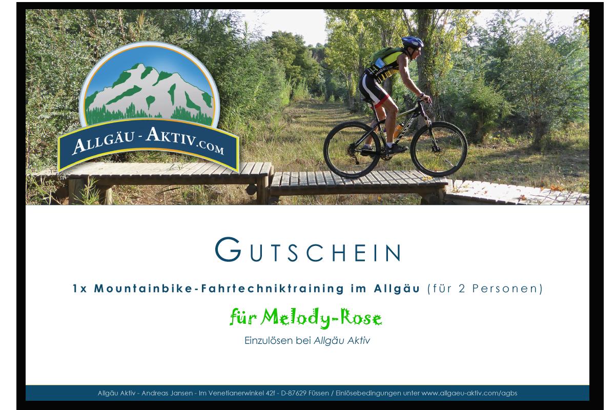 Gutschein für ein Mountainbike-Fahrtechniktraining