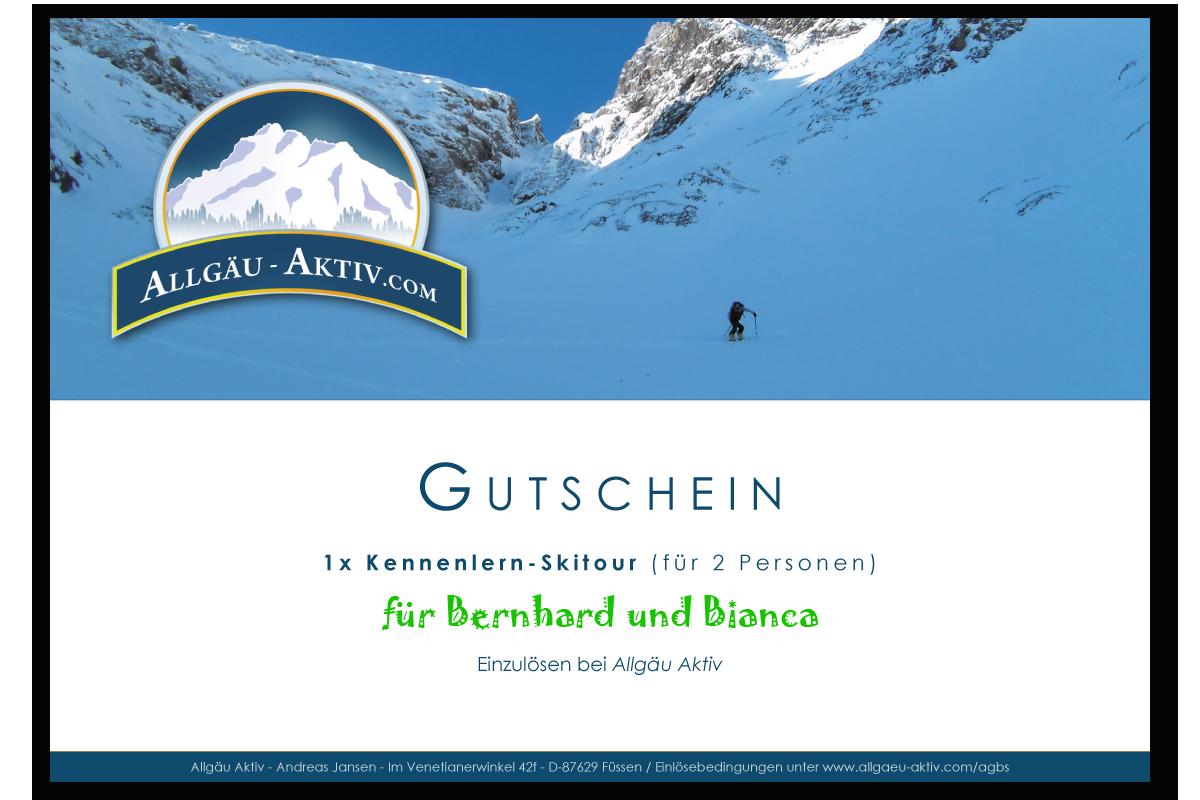 Gutschein für eine Kennenlern-Skitour