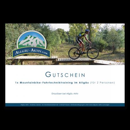 Gutschein über ein Mountainbike-Fahrtechniktraining im Allgäu
