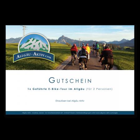 Gutschein über eine geführte E-Bike-Tour im Allgäu